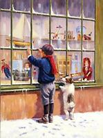 Junior Small Paint By Number Kit 8-3/4x11-3/4-christmas Wish, New, Free Shippi