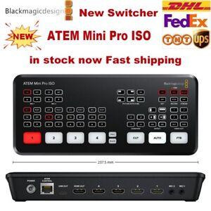 Origina Blackmagic Atem Mini Pro Iso Hdmi Live Stream Switcher Multi View Record Ebay