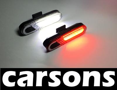 Front DEL /& Arrière Moon Rechargeable USB Bike Lights Set Kit Lumière Cyclisme Bouin