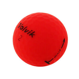 12 Volvik Vivid Matte Red Mint Used Golf Balls AAAAA *SALE!*