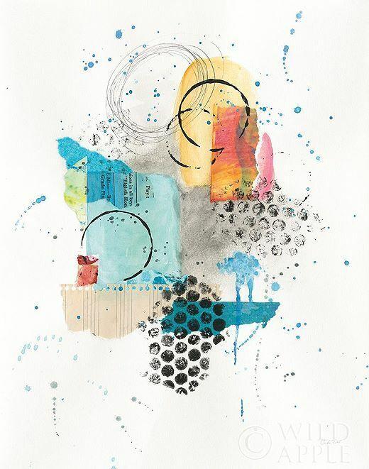 Courtney Prahl  Abstract Skyline II Keilrahmen-Bild Leinwand abstrakt modern