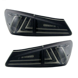 VLAND-LED-Tail-Lights-Fit-For-Lexus-IS250-IS350-ISF-2006-2012-Smoked-Lens-Pair
