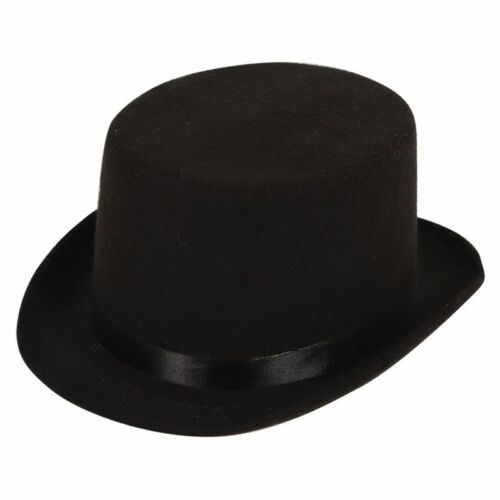 HIGH QUALITY INDESTRUCTABLE BLACK MENS TOP HAT HATS -