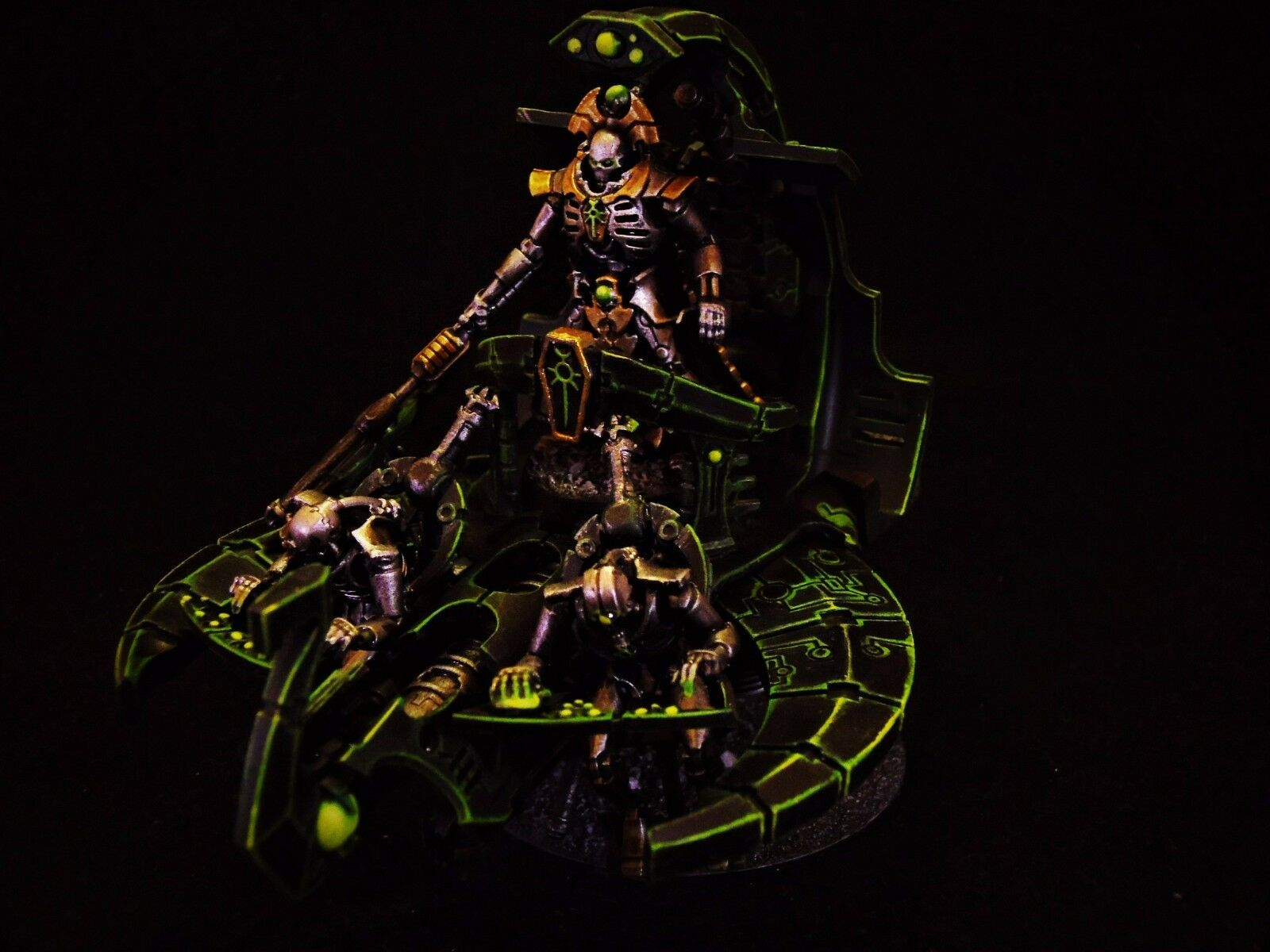 Warhammer 40,000 Necron Catacomb Command Command Command Barge Pro Painted cd8b68