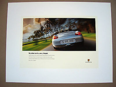 PORSCHE OFFICIAL BOXSTER 'FORGET' DEALER SHOWROOM POSTER 1997 NEW USA