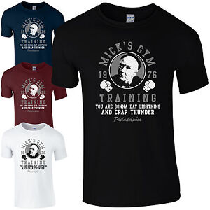 Mick-039-s-Gym-Training-1976-T-Shirt-Balboa-Philadelphia-Creed-Rocky-Mens-Gift-Top