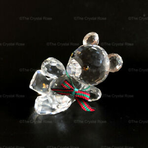 RARE-Retired-Swarovski-Crystal-Kris-Bear-Original-Reclining-Leaning-174957-Boxed