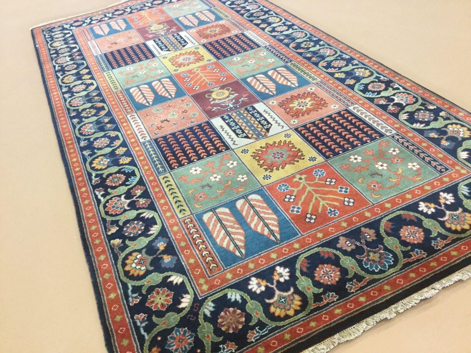 4'.2    X 8'.0  MultiFarbe Bakhtiari Persian Oriental Rug Wide Runner Hand Knotted 70d120