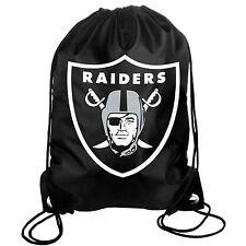 Oakland Raiders Back Pack/Sack Drawstring Bag/Tote NEW Backpack BIG LOGO