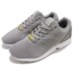 dcabbe0679 Details about adidas Originals ZX Flux Grey White Mens Running Shoes  Sneakers Trainers M19838