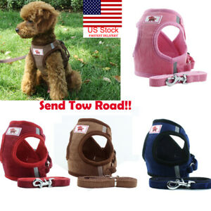 US-Small-Cat-Dog-Harness-Leash-Vest-Pet-Puppy-Walking-Leads-Safety-Control-Soft