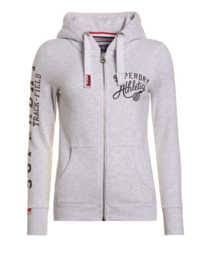 New Field Ziphood Track Ice Marl Womens Superdry UqfST
