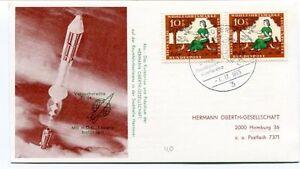1965 Versuchsreihe Tr24 Rakete Hermann Oberth Gesellschaft Hamburg Deutsche Hog Soulager La Chaleur Et La Soif.