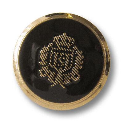 8 edle schwarz-goldene Designerknöpfe d532 2 Größen verfügbar