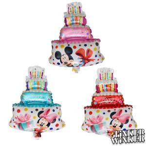 Micky-Maus-Torten-Ballon-30-x-40-cm-Minnie-Disney-Kindergeburtstag-Folienballon