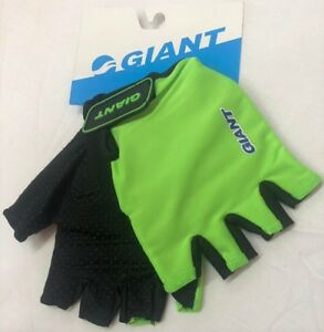 Hi Vis Florescent GIANT Bike Bicycle Fingerless Half Finger Cycling Cycle Gloves
