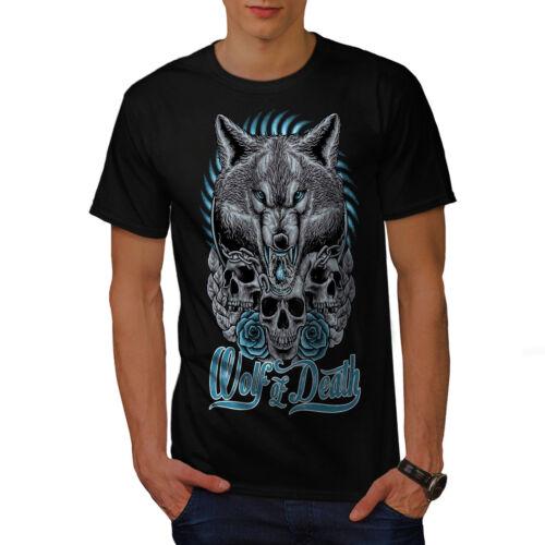 Wellcoda Wolf Of Death Art Animal Mens T-shirt Graphic Design Printed Tee
