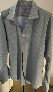 Charles-Tyrwhitt-Blue-Check-100-Cotton-Dress-Shirt-Slim-Fit-17-1-2-36