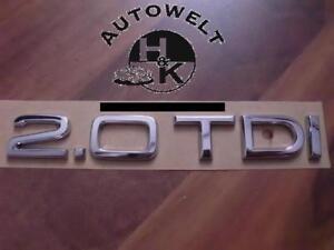 Audi-2-0-TDI-S-Line-sline-Schriftzug-A1-A2A3-A4-A5-A6-A7-A8-Q3-Q5-Q7-8E-B6-B7-8K