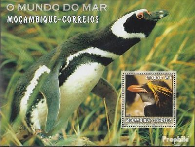 Mozambique Block185 Unmounted Mint Stamps Never Hinged 2002 World Of Marine Crazy Price