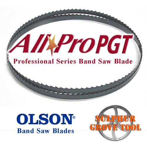 """89 1//2/""""Olson AllPro PGT Band Saw Blade 1//2/"""" .025/"""" 3 HOOK  APG72689 Made In USA"""