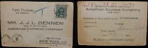 1964 Poland Polska to New York American Express USA postage due 6c