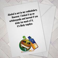 Birthday Card Drinking Funny Alcohol Best Friend Mate Male Female Girl Boy Drink