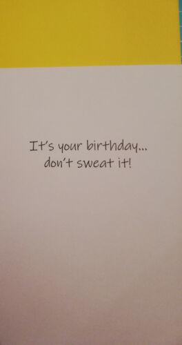 Grußkarte Geburtstag Don/'t sweat it Nähen Englisch Patchwork Quilting Karte