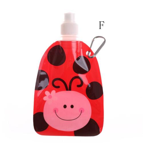 Portable Eco Friendly Foldable Cartoon Animal Water Bag Kid Travel Drink Bottle#