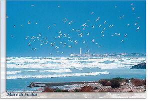 CARTOLINA-SICILIA-PUNTA-SECCA-FARO-SPIAGGIA-MARE-SEA-BEACH-SICILY-POSTCARD