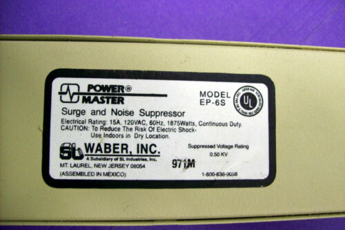 POWER MASTER EP-6S Used SURGE AND NOISE SUPPRESSOR