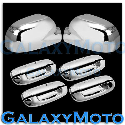 For Chevy Trailblazer 02-09 Chrome 4 Doors Handles Covers W//Out Passenger Kh