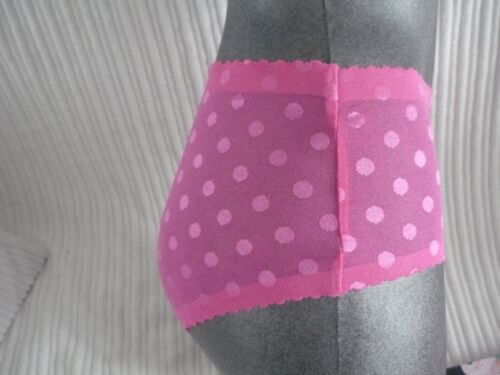 ladies knickers shorts pink blue cream fine mesh 8 to 14 left high street store
