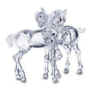 SWAROVSKI-SILVER-CRYSTAL-034-FOALS-034-PEACEFUL-COUNTRYSIDE-THEME-627637-MINT-IN-BOX