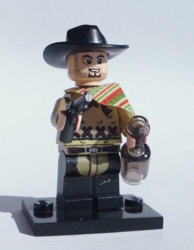 NEW CUSTOM 100/% LEGO BATMAN SOLDIER CLINT EASTWOOD COWBOY PISTOLERO w DARK CHAPS