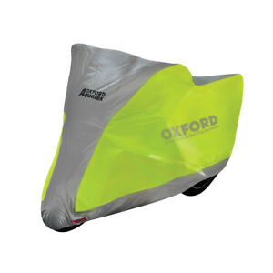 Oxford-Aquatex-Flourescent-Fluo-Motorbike-Motorcycle-Cover-Size-Large-L-CV222