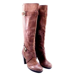 b1e2bdf608f Details about DKNYC Raleigh Womens Sz. 9.5 Brown Truffle Leather Knee High  Boot DKNY 40.5 EUC