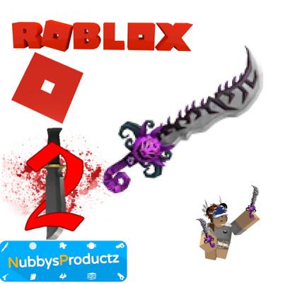 Roblox Murder Mystery 2 Knife Values Roblox Murder Mystery 2 Mm2 Hallows Blade Godly Knifes And Guns Read Desc Ebay