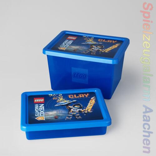 LEGO Nexo Knights STORAGE BOX Set L+S Aufbewahrungsbox Blue Volume 6.2 L 18 L