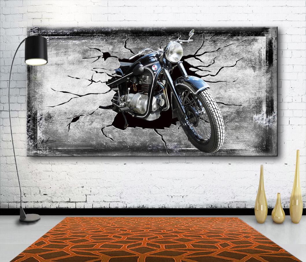 EMW R34 BJ 1954 Motorrad Oldtimer Leinwand Bilder Wandbild Kunstdruck 2151A