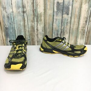 Adidas-adizero-XT-Men-s-9-Black-Yellow-Lace-Up-Trail-Hiking-Running-Shoes
