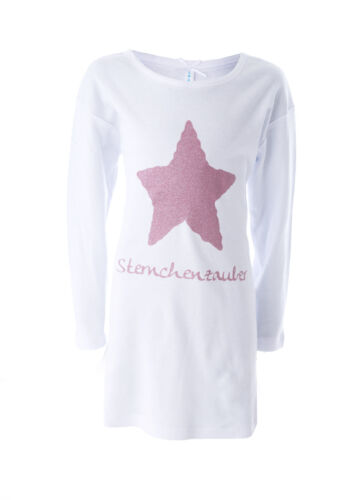 """/% LOUIS /& LOUISA /""""Astérisque magique/"""" chemise de nuit glitzerstern Taille 116 Neuf/%"""