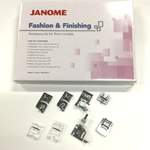 Janome Fashion /& Finishing Accessory Kit For 9mm Models #863404007