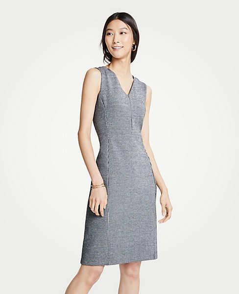 Ann Taylor Woherren New Puppytooth Ponte Sheath Dress - schwarz Multi - Größe 10