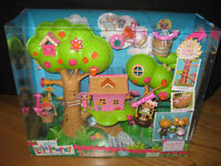 Mini Lalaloopsy La La Loopsy 2 Side Treehouse Playset + 2 Minis +lots Of Pcs