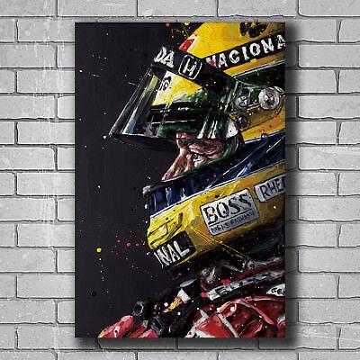 New Ayrton Senna F1 Formula Custom Poster Print Art Decor T-190