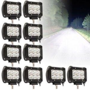 10x 18w LED Scheinwerfer Arbeitsscheinwerfer Offroad  Strahler Lightbar für KFZ