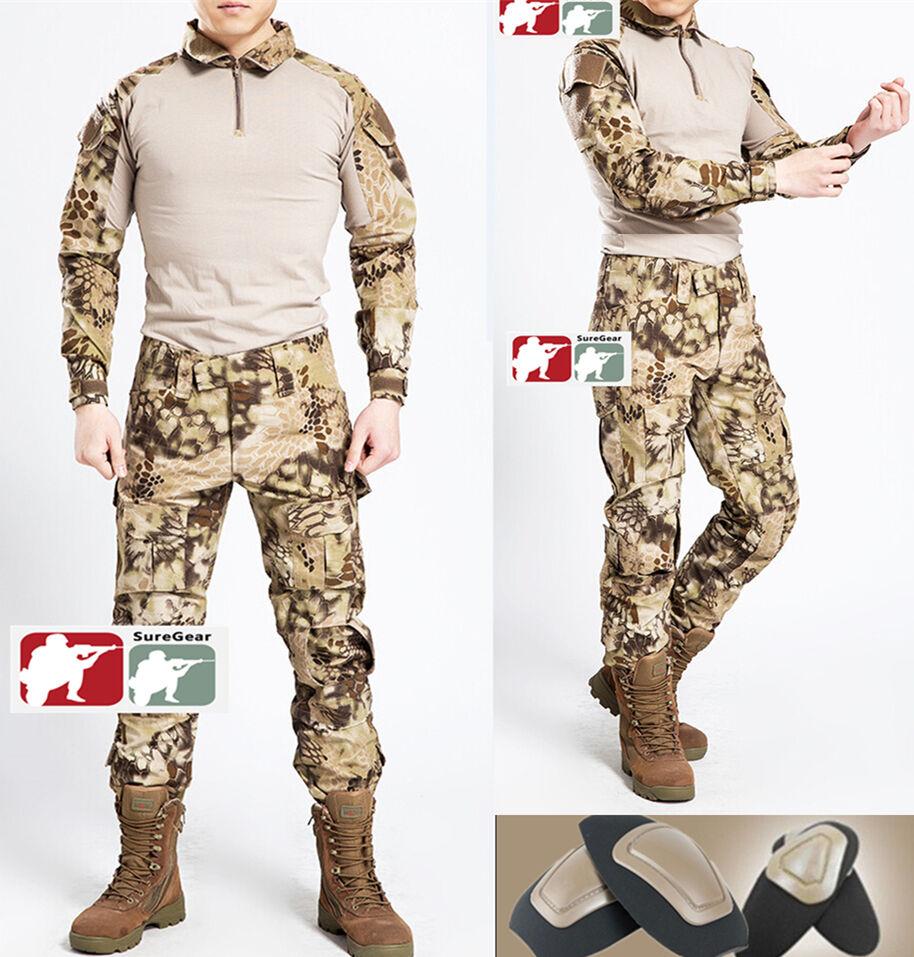 HIGHLANDER Gen3 G3 Combat Suit Shirt & Pants Military Tactical Uniform Kryptek