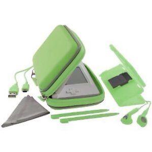 nintendo ds lite exspect essentials pack case cover ear phones usb screen green. Black Bedroom Furniture Sets. Home Design Ideas