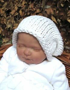 7929fb523b5 Image is loading PRINTED-INSTRUCTIONS-EASY-BABY-SUPERFAST-SLOUCH-BEANIE-HAT-